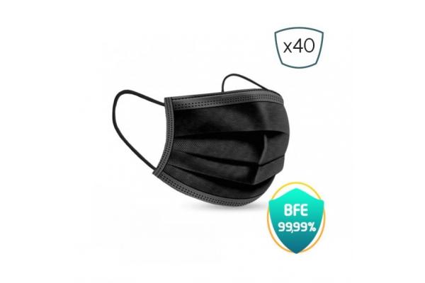 MASCARILLAS HIGIENICAS PRO SAFE FM-PK40IIR-BLACK PACK 40U