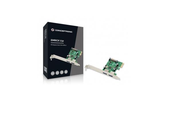 CONTROLADOR CONCEPTRONIC PCI EXPRESS 2 PTOS EMRICK01G
