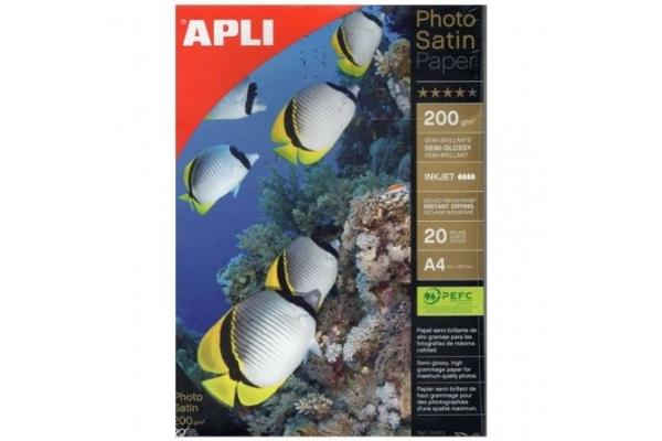PAPEL FOTOGRAFICO APLI SATIN PAPER 04453 DIN A4 20 HOJAS SEMI BRILLANTES