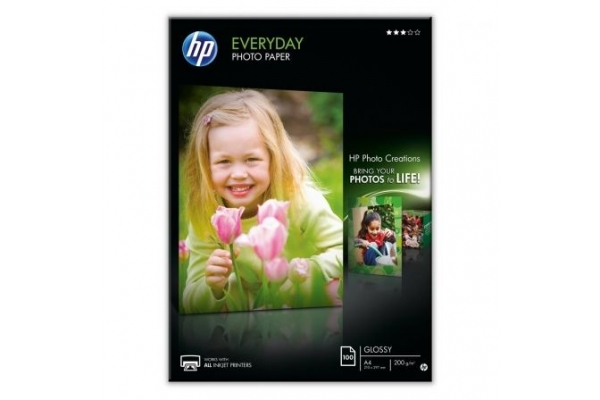 PAPEL FOTOGRAFICO HP EVERYDAY Q2510A A4 100 HOJAS