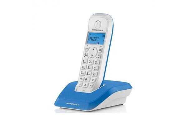 TELEFONO FIJO DIGITAL MOTOROLA S1201 AZUL