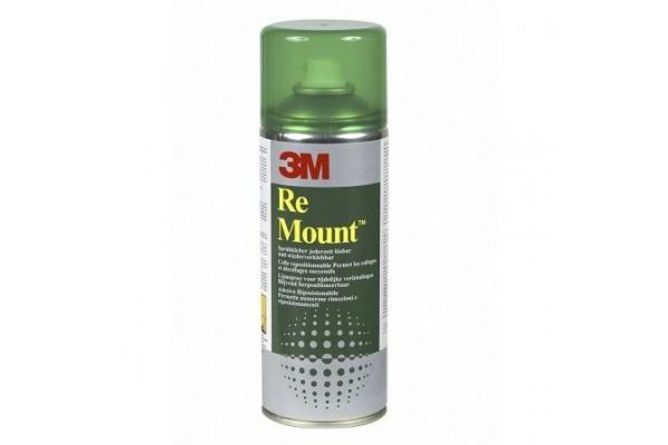 PEGAMENTO EN SPRAY 3M RE MOUNT CAPACIDAD 400ML