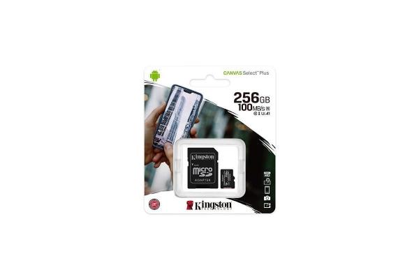 TARJETA MICRO SD 256GB KINGSTON CANVAS SELECT PLUS SDCS2 256GB
