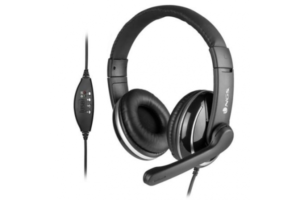 AURICULARES NGS VOX 800 USB CON MICROFONO USB NEGRO