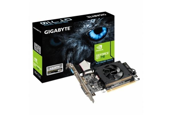 TARJETA GRAFICA GIGABYTE GT 710 2GB GDDR3 2.0 GV-N710D3-2GL