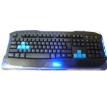TECLADO RLM-KB-GAMING-100 USB MULTIMEDIA/LED AZUL