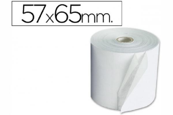 ROLLO PAPEL ELECTRO 57MM A X 65 MM D (10 UN)