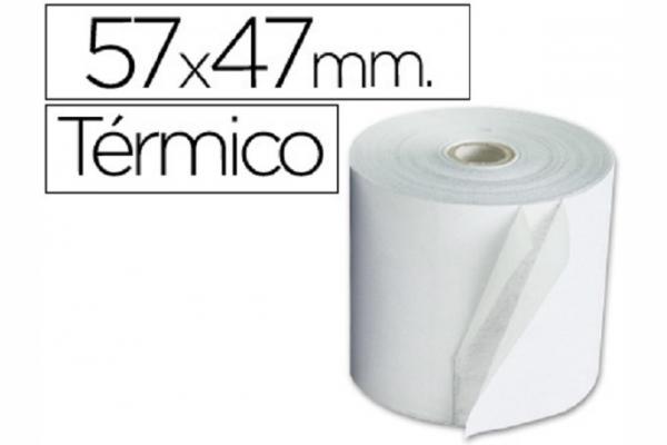 ROLLO PAPEL TERMICO 57MM A X 45MM D (10 UN)