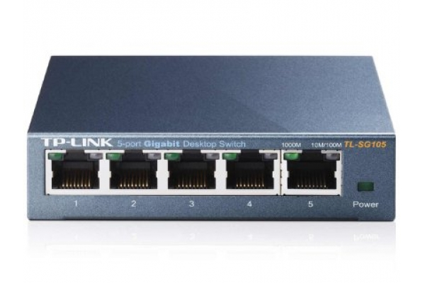 REDES TP-LINK GIGASWITCH 5 PTO TL-SG105E SEMIGESTIONABLE