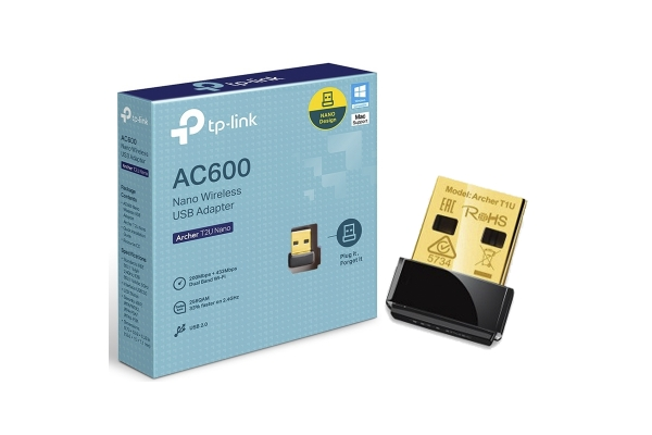 REDES TP-LINK ADAPT. WIRELESS USB BANDA DUAL AC600 ARCHER T2UH