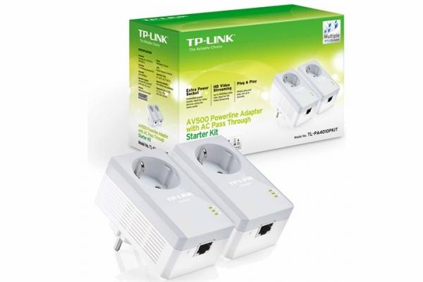 REDES TP-LINK PLC 500MBPS TL-PA4010P KIT 2 UNIDADES