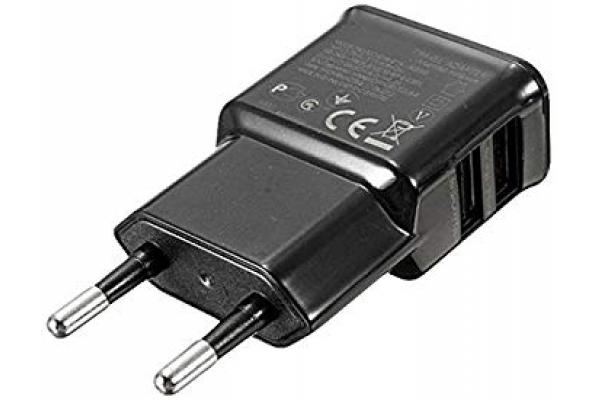 CARGADOR DE PARED 2USB 5V 2A LL-USB2-CHARGER