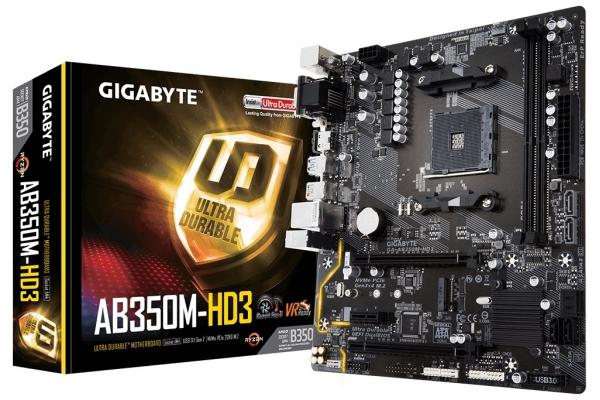 PLACA BASE GIGABYTE AM4 AB350M-HD3