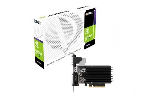 TARJETA GRAFICA GEFORCE PALIT GT710 2GB DDR3 NEAT7100HD46-2080H