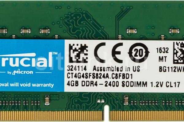 MEMORIA SODIMM 4GB DDR4 2400 CRUCIAL CT4G4SFS824A