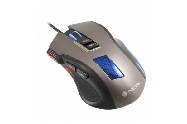 RATON + ALFOMBRILLA NGS GMX-105 GAMING USB OPTICO 7 LED PROGRAMA