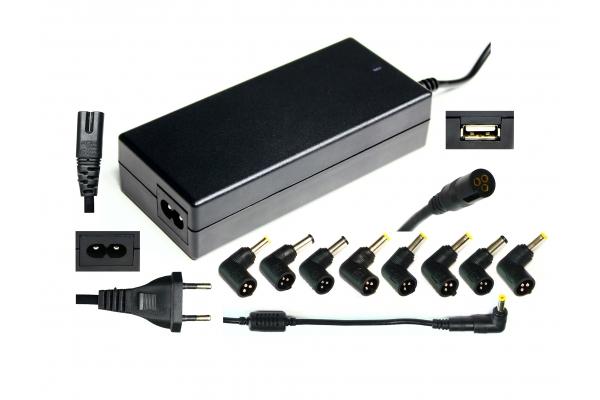 CARGADOR UNIVERSAL 90W RLM-9018 11 CONECTORES+USB 5V
