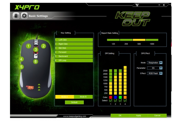 RATON GAMING KEEP OUT X4PRO 2500DPI